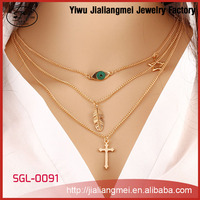 Wholesale Fashion Woman Style Handmade Chain Necklace Jewelry
