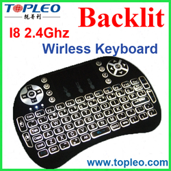 Real factory directly selling cheapest 2.4G wireless mini keyboard I8