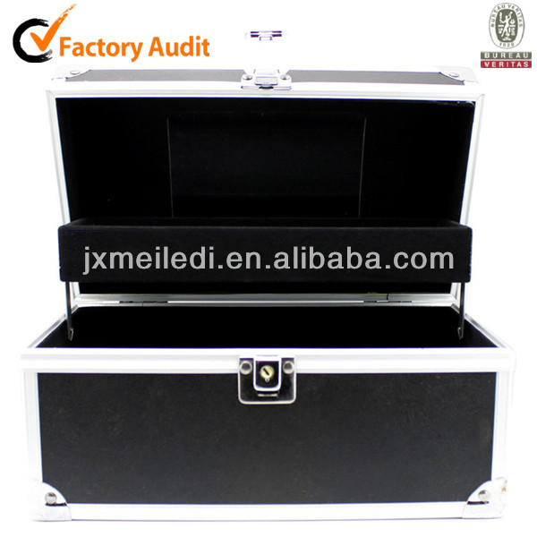 MLD-CC371 High-quality Tray Black Fashional Vanity Jewelry Makeup Train Aluminium Beauty Case