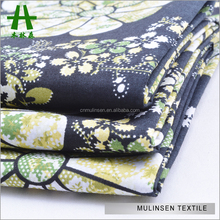 Mulinsen Textile High Quality Big Flower Design Stretch Poplin Indonesia Cotton Printed Fabric