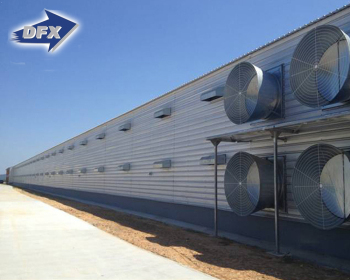 Hot Selling Automatic Controlled Commercial Steel Shed Double Storey Poultry Farm In Fiji