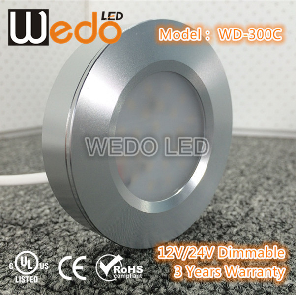 Ultra-Thin Round Dimmable Cabinet Downlight 12v and Showcase Jewelry Light