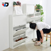 Shoe racks basic size latest designs cold rolled steel metal save space adjustable wall door covered home made cabinet