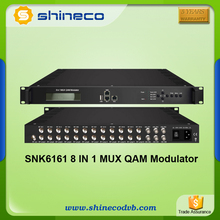 Digital Broadcast Systems Cable TV QAM 8 IN 1 CATV Modulator