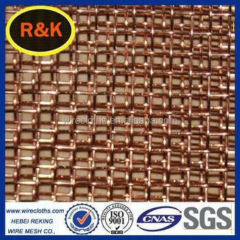 Phosphor copper wire mesh screen