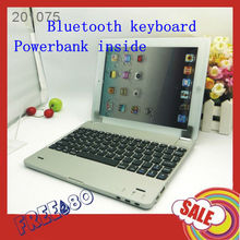 Sharksucker M6 Aluminum Wireless Bluetooth Keyboard Dock Stand With 4000mAh Powerbank For iPad 4 iPad 3