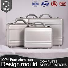 HLW aluminum metal suitcase real aluminum briefcase