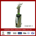 Decorative reindeer metal beer bottle holder