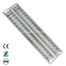 Recessed 2x28 grid fluorescent ceiling lighting fixture T5