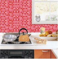 Adhesive Wall Tiles Multicolor mosaic kitchen Backsplash Wall Tile Sticker