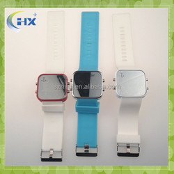 New Fashion Mirror Face Silicone led Watch