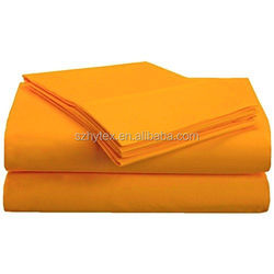 1500 Series 100% Brushed Microfiber 4-piece Queen Bed Sheet Set hotel or home orange