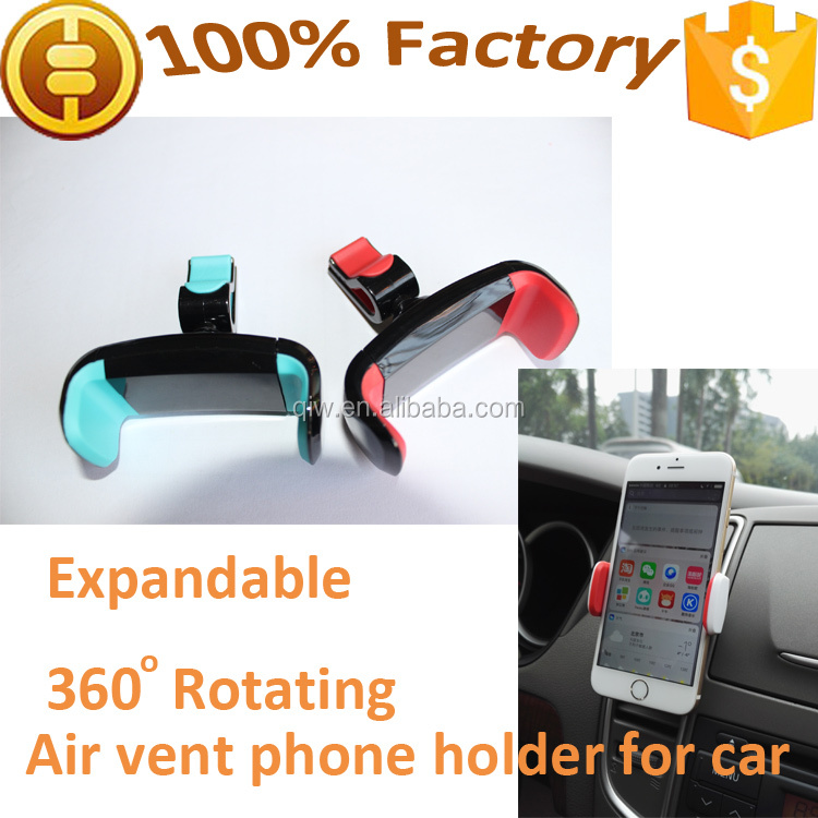 Universal 360 Rotating Expandable Car Air vent Mobile Phone Holder for iPhone plus