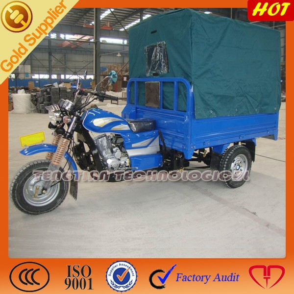 Chinese three wheel cargo carrier tricycle /motorized 3 wheel motorcycle