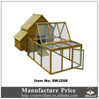 Factory price and high quality wooden chicken house sale with large run