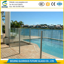 Ultra thickness 15mm 19mm laminated or tempered swimming pool glass wall