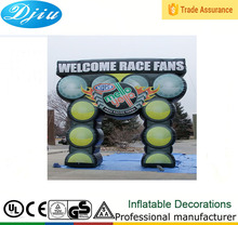 DJ-GM-26 cheap outdoor inflatable advertising arch finish line used inflatable arch