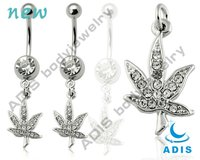 Unique Maple Leaf Banana Belly Chain Belly Piercing Jewelry