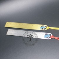 metal craft laser cutting silver korean ruler bookmark