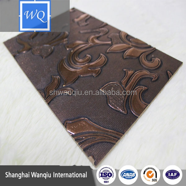 cheap decorative embossed wave mdf board