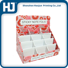 Corrugated paper display box for sticky notes,Carton counter display box