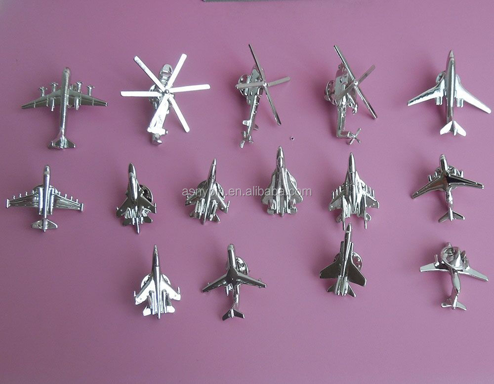 new models 3d aircraft lapel pins aircraft coat pins