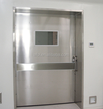 AFOL stainless steel manual operated door for hospital or cleanroom