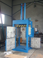 Hydraulic vertical cotton bale strapping press machine