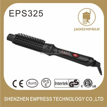 Salon tools magic LED hair curler brush style 2 in 1 elements hair straightener EPS325