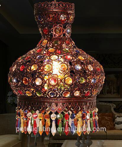 Professionale telaioin ferro battuto lampadario turco per commerci ...