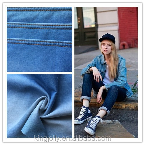 european jeans materials of pure cotton denim fabric for jeans clothing