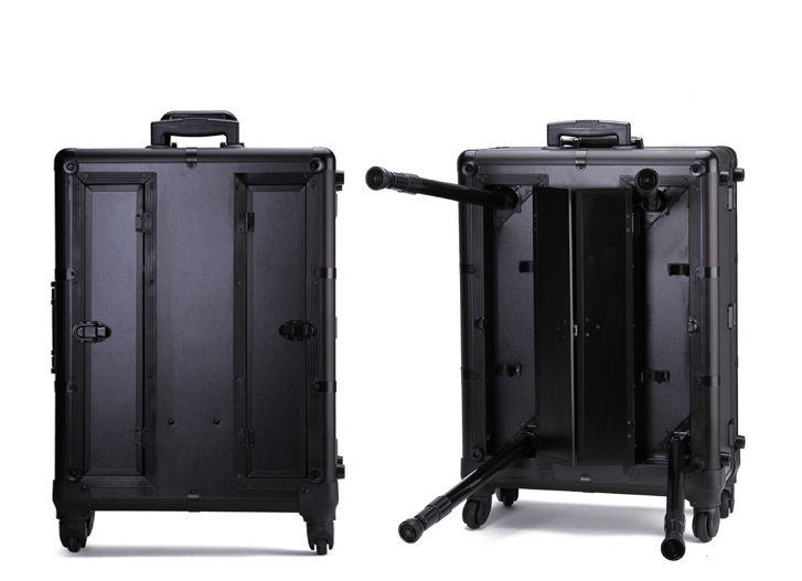 Profelssional Makeup Beauty Light Case Rolling Trolley Make up Train Case KC-210