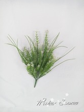 factory wholesale accessory of plant wall artificial green grass mini plant for wall decoration