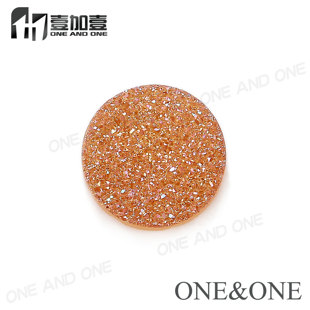 100% Natural Druzy Stone Bead Agate Drusy Cabochons Round 8mm shape Orange Wholesale