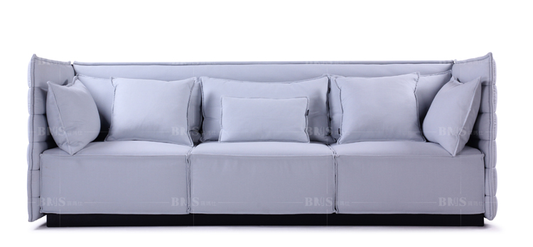 Fresh design upholstered sofa in a box