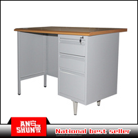 luoyang steel cabinet office furniture steel office table mdf desktop desk metal frame office table