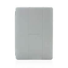 Grey PU leather stands case cover for ipad mini