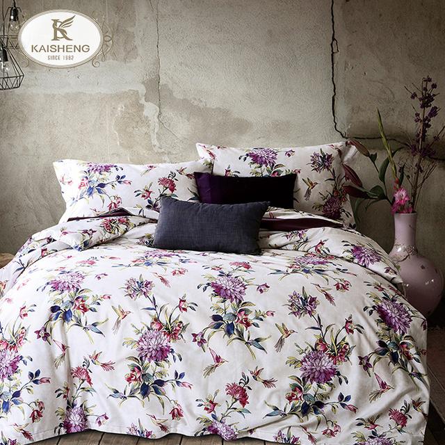 Custom 300TC Full Color Sateen Cheap Digital Printed Bed Sheet
