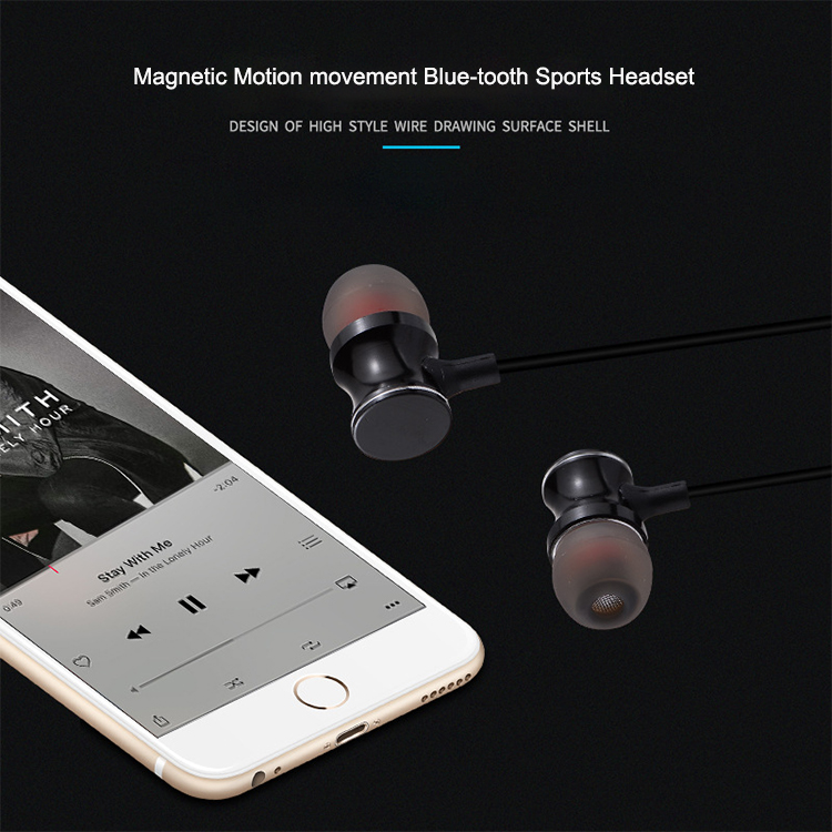 Magnetic Sport Blue-tooth Earphone Wireless Headphones with Mic for iPhone Stereo Headset