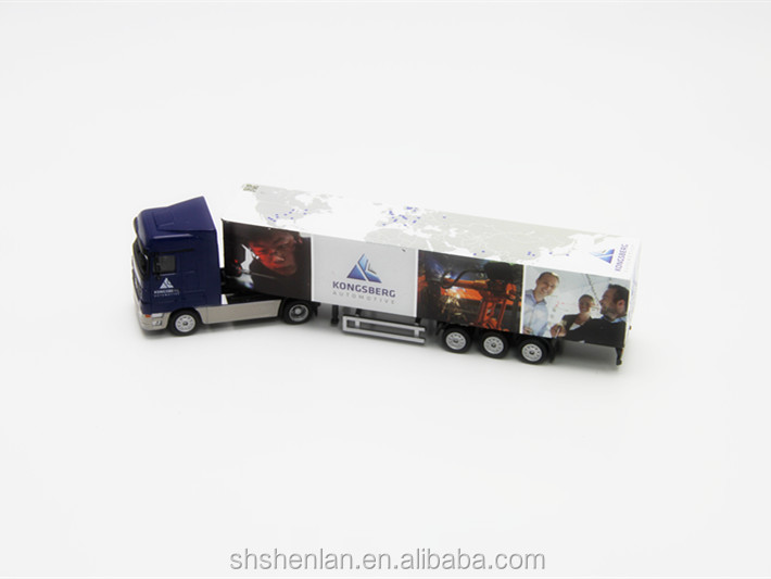 Scale 1:87, 7.87 inches long, die cast miniature truck promotional toy custom made