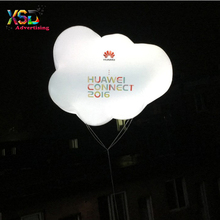 LED lighting inflatable cloud / Brand printing flying inflatable helium cloud balloon for sale
