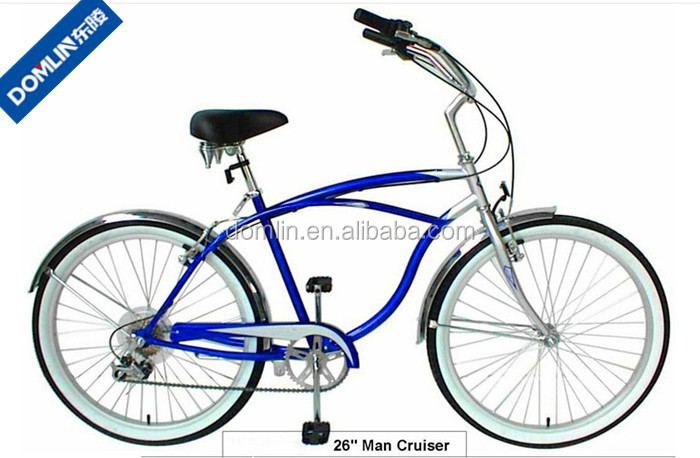 26 inch hi-ten steel frame 7 speed beach cruiser bicycle for men made in China