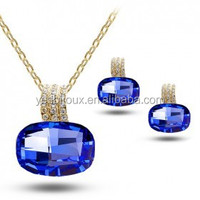 austria rhinestone jewelry set dark blue crystal jewellery