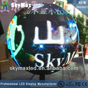 P6 Perfect vision effect indoor full color sphere led display