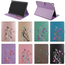For Ipad 10.5 New Flip leather Tablet Case, flower cover For ipad pro 10.5 butterfly