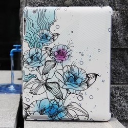 graceful printable PU leather case tablet cover for Apple ipad 4
