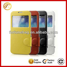 Leather case for iphone4 mobile phone case with vision window
