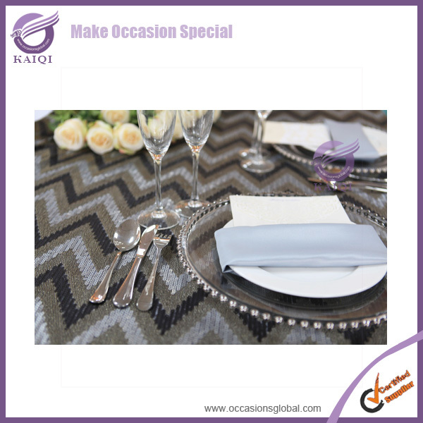PZ22640 2015 Excellent Big Beads Gold Beaded Wedding charger plates wholesale
