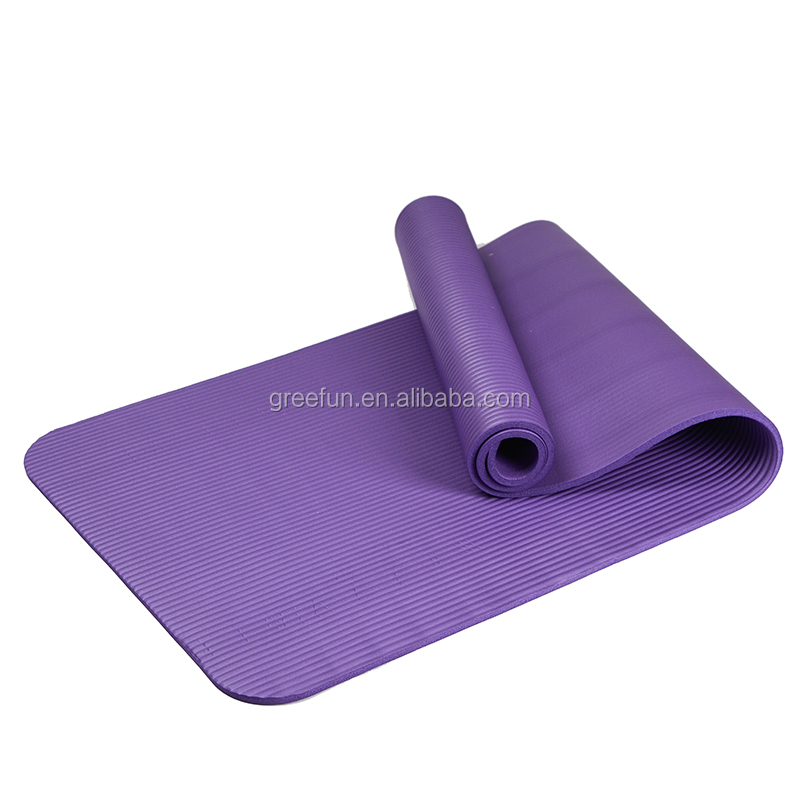 Custom Logo Anti-Tear Pilates Exercise Yoga Mat NBR Eco-Friendly Multiple Use Exercise and Yoga Mat , Anti Slip <strong>Fitness</strong>