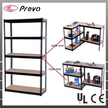 Home DIY Heavy Duty Rack Double Rivet with Particle Board Film Boltless Shelving
